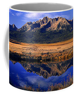 Coffee Mug featuring the photograph Fall Reflections Sawtooth Mountains Idaho by Dave Welling
