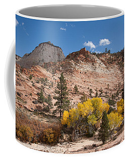 Fall Season At Zion National Park Coffee Mug by John M Bailey