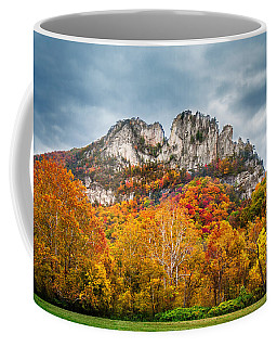 Fall Storm Seneca Rocks Coffee Mug by Mary Almond