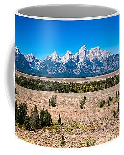 Coffee Mug featuring the photograph Fall Tetons   by Lars Lentz