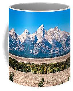 Fall Tetons Panorama   Coffee Mug