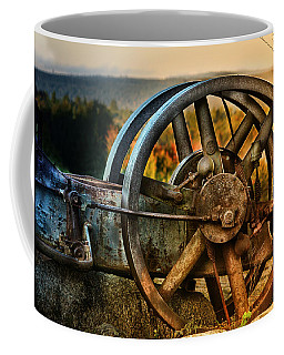 Fall Through The Wheels Coffee Mug by Susan Capuano
