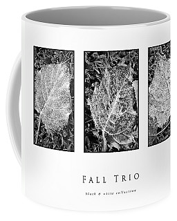 Fall Trio Black And White Collection Coffee Mug by Greg Jackson
