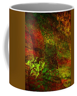 Coffee Mug featuring the mixed media Fallen Seasons by Ally  White