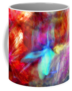 Falling Petal Abstract Red Magenta And Blue B Coffee Mug