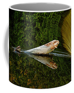 Coffee Mug featuring the photograph Falling Tree Reflections by Debbie Oppermann