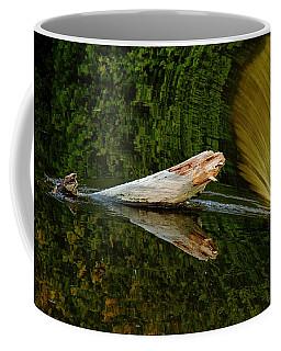 Falling Tree Reflections Coffee Mug by Debbie Oppermann