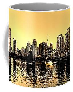 False Creek Vancouver Canada Inksketch Panorama Coffee Mug