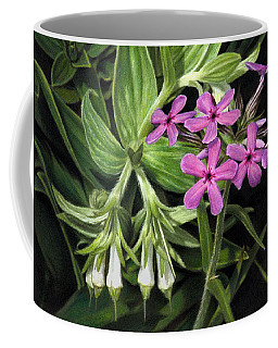 False Gromwell With Prairie Phlox Coffee Mug