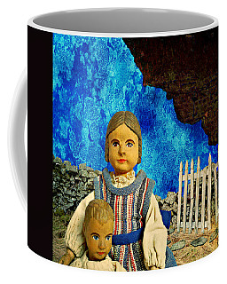 Coffee Mug featuring the mixed media Family by Ally  White