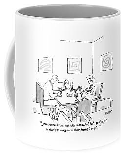 Family Around Table Coffee Mug