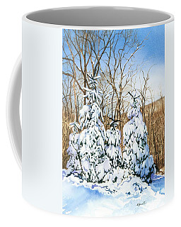 Coffee Mug featuring the painting Family Of Four Trailside At 7 Springs by Barbara Jewell