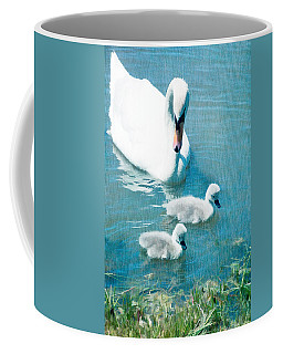 Family Of Swans At The Market Common Coffee Mug