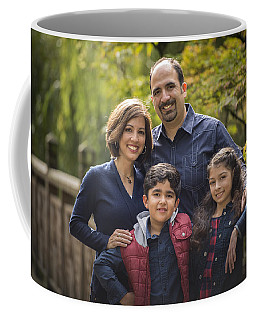 Family Portrait On Bridge - 1 Coffee Mug