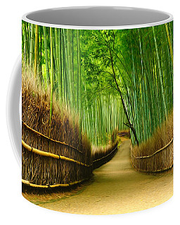 Famous Bamboo Grove At Arashiyama Coffee Mug