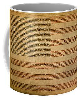 Famous Patriotic Quotes American Flag Word Art Coffee Mug