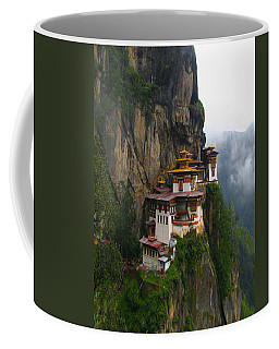 Famous Tigers Nest Monastery Of Bhutan Coffee Mug