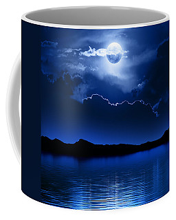Fantasy Moon And Clouds Over Water Coffee Mug