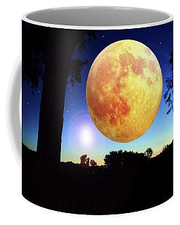 Fantasy Moon Landscape Digital Art Coffee Mug