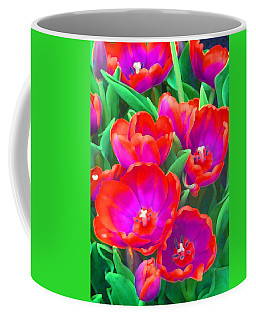 Coffee Mug featuring the photograph Fantasy Tulip Abstract by Margaret Saheed