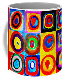 Farbstudie Quadrate Coffee Mug by Celestial Images