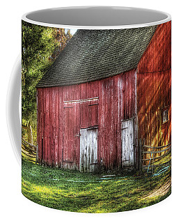 Farm - Barn - The Old Red Barn Coffee Mug by Mike Savad