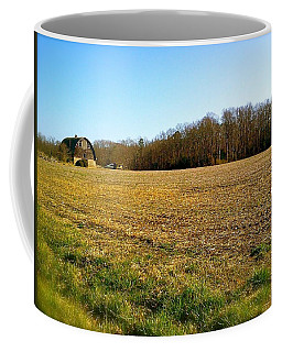 Farm Field With Old Barn Coffee Mug