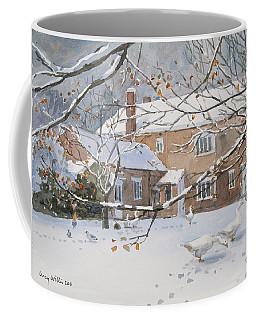 Farmhouse In The Snow Coffee Mug