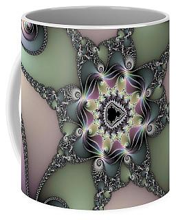 Fascinating Fractal Spirals Beautiful Metallic Colors Coffee Mug