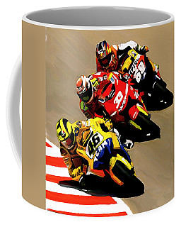 Faster  Valentino Rossi Nicky Hayden Coffee Mug
