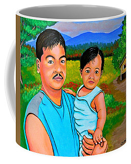 Father And Son Coffee Mug by Cyril Maza