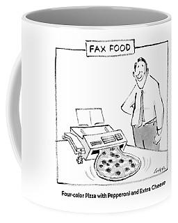 Fax Food 'four-color Pizza With Pepperoni Coffee Mug
