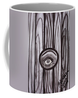Fear - Eye Through Fence Coffee Mug