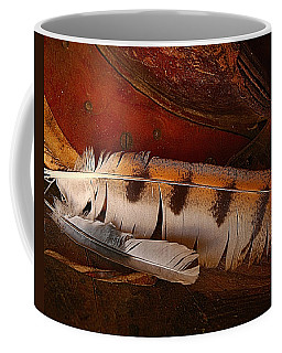 Feather And Leather Coffee Mug