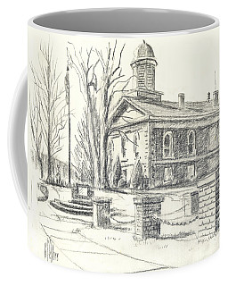 Coffee Mug featuring the drawing February Morning  No Ctc102 by Kip DeVore