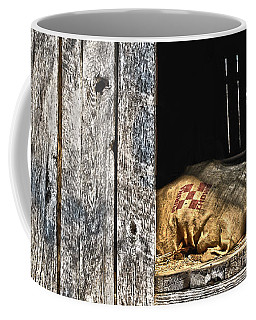 Coffee Mug featuring the photograph Feed Sack In Loft by Greg Jackson