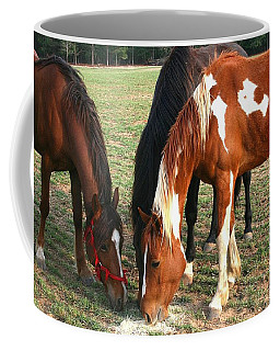 Feeding Horses Coffee Mug