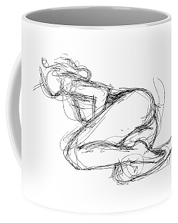 Coffee Mug featuring the drawing Female-erotic-sketches-8 by Gordon Punt