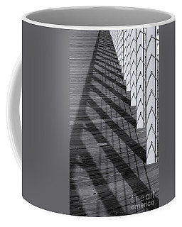 Fence And Shadows Coffee Mug