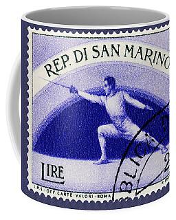 Fencing On San Marino Stamp Coffee Mug