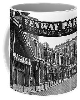 Fenway Park Banner Black And White Coffee Mug