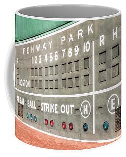 Fenway Park Scoreboard Coffee Mug by Susan Candelario