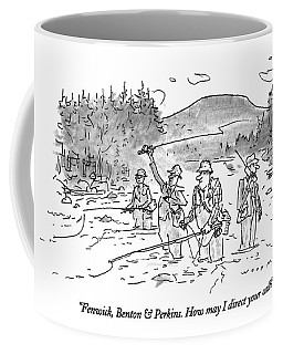 Fenwick, Benton & Perkins. How May I Direct Coffee Mug