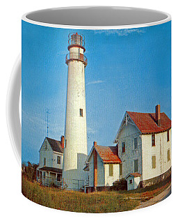 Fenwick Island Lighthouse 1950 Coffee Mug by Skip Willits