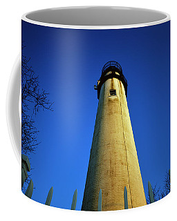 Coffee Mug featuring the photograph Fenwick Island Lightouse And Blue Sky by Bill Swartwout