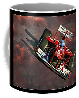 Fernando Alonso Ferrari Coffee Mug