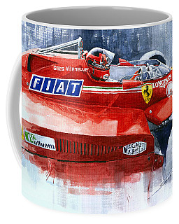 Ferrari 126c Silverstone 1981 British Gp Gilles Villeneuve Coffee Mug