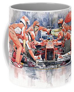 2012 Ferrari F 2012 Fernando Alonso Pit Stop Coffee Mug