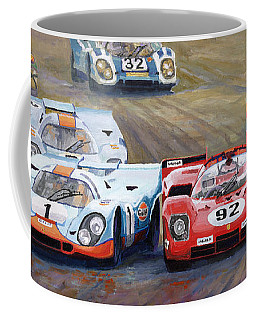 Ferrari Vs Porsche 1970 Watkins Glen 6 Hours Coffee Mug