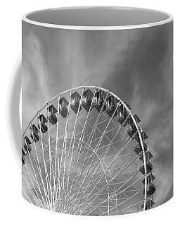Ferris Wheel Black And White Coffee Mug